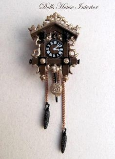 Highly detailed Metal Cuckoo Clock Hand Painted