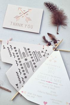 Bohemian Baby BBQ by @_Dimity_ // DIY baby shower invites