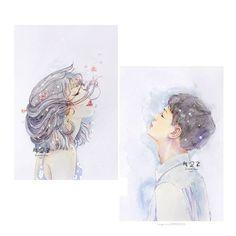 #wattpad #truyn-ngn Xin chào! Đây là Vivi. Đây là nơi Vivi đưa những ý tưởng rời rạc của mình vào những chòm sao hoàng đạo, nơi những con người mang cái tên và tính cách giống với những chòm sao hoàng đạo. Nếu mọi người có yêu thích cặp đôi nào, xin cho Vivi biết nhé! Vivi sẽ dựa theo đó mà viết nên những câu chuyện... Anime Couples Drawings, Couple Drawings, Cute Anime Couples, Art Drawings, Couple Illustration, Illustration Art, Stock Design, Anime Muslim, Korean Art