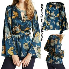 Thistle Bloom Print Long Sleeve Blouse by M&S Per Una Size 8 10 12 14 16 #8000 www.questworld.com.ng pay on delivery in lagos. Nationwide Delivery