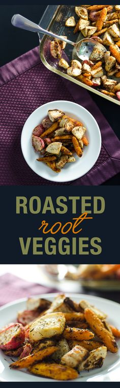 Roasted Root Veggies: carrots • turnips • radishes - recipe makes a delicious vegan and gluten free side dish | VeggiePrimer.com
