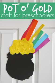 Toddler Approved!: Easy Preschool Cutting Craft: Pot o' Gold