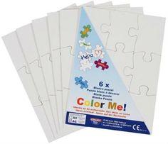 6 Blanko Puzzle A6 weiß 9 große Teile zum Bemalen  Blanko Puzzle weiß zum selbst Bemalen - 6 Stück (je 9 Teile)  6 Blanko Puzzle im Set zum günstigen Vorratspreis! Zum freien Gestalten mit Farbe...