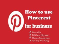 How to use PInterest in Business