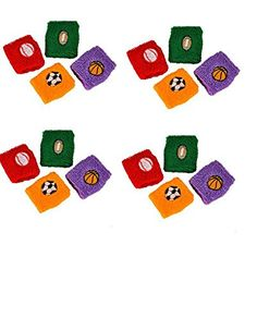 24 All Sports Wristbands  Assorted Colorful Wristbands  Sports Fan  Birthday Sports Party Favor  Team coach Prize  Giveaway Gift Stocking Stuffer  Easter Basket  Soccer Football Baseball Basketball  by RN ** Learn more by visiting the image link.Note:It is affiliate link to Amazon.