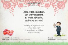 Hungarian words (all posts) – Page 2 – daily magyar Easter Monday, Everyone Knows, Easter Eggs, Sprinkles, Poems, Language, Learning, Wordpress, Traditional