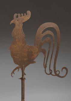 SCULTURA in metallo in piedi GALLO GALLETTO SEGNAVENTO Ornamento Decorazione Giardino Pollo