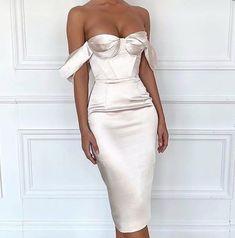 Classy dress - Off The Shoulder Tea Length Homeocming Dresss – Classy dress Classy Dress, Classy Outfits, Evening Dresses, Prom Dresses, Formal Dresses, Bridesmaid Gowns, Dress Prom, Elegant Dresses, Beautiful Dresses