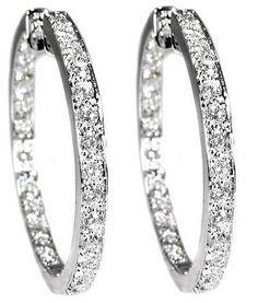 diamond hoop earrings love the double sided inset