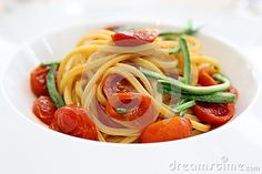 One Michelin Star Pasta With Asparagus Stock Photo - Image of hunhouse, tomato: 77986728 Asparagus Pasta, Michelin Star, Cherry Tomatoes, Spaghetti, Ethnic Recipes, Image, Food, Essen, Meals