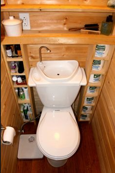Bathroom storage idea.