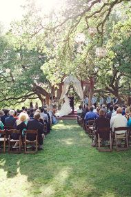 Wonderful garden wedding under a tree with lovely Bouquet   Austin Wedding from The Nichols | Style Me Pretty