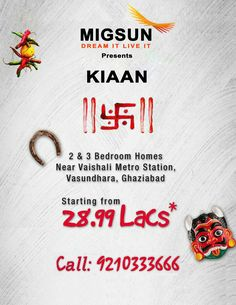 #MigsunKiaanGhaziabad #Vasundhara preparation to develop their housing in the area to offer comfortable area #MigsunKiaan give 2/3/4bhk Apartments. For Booking Call Now 9210333666. Website:-http://propshop.org.in/migsun-kiaan-vasundhara-ghaziabad.php