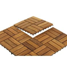 Bare Decor EZ-Floor Solid Teak (Brown) Wood Interlocking Flooring Tiles (Set of (Tile 10 square feet) Hardwood Tile, Wood Parquet, Teak Wood, Patio Tiles, Outdoor Flooring, Interlocking Floor Tiles, Tile Trim, Tile Floor, Flooring Tiles