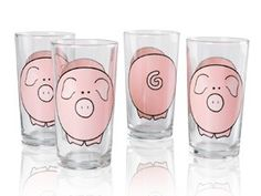 !!!!!!!!!!!!! I would LOVE to have 12! The Big Easy Pig Glasses (The Big Easy + Pigs! 2 of my favorite things combined!)