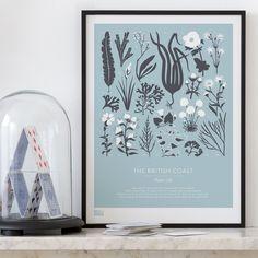 Bold and Noble Screen Print - British Coast Plant Life