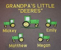 Would be so cute using the names of the great grandkids! Since my grandpa is so hard to buy for anymore lol