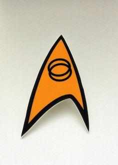 Star Trek Pin Starfleet Science Insignia button by PEACEandPAISLEY, $5.95