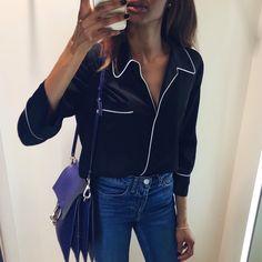 2016 Pajama Style Shirt | Zara – . Bag | Chloe