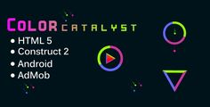 Color Catalyst . simple game, match the color balls and sides of the