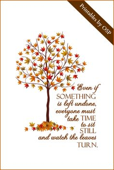Autumn Quote from Elizabeth Lawrence Free Printable