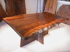 tapered claro walnut custom conference table