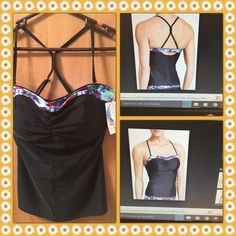 Athleta tankini Beautiful tankini . With build in underwire for lift and support. Fits the following 36D and 36DD Athleta Swim