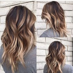 Best brown balayage hair designs for medium length hair, medium hair color . - Best brown balayage hair designs for medium length hair, medium hair color … – hairstyle trends - Hair Color 2016, Hair Color And Cut, Hair 2016, V Cut Hair, Winter Hairstyles, Cool Hairstyles, Hairstyle Ideas, Hairstyles Haircuts, Brown Hairstyles