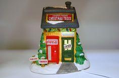 """Coca Cola Town Square Collection """"Cooper's Tree Farm"""" Coke Christmas 1996"""
