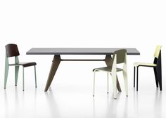 Hella Jongerius' reworking of Jean Prouvé's Standard chair and Compas Direction table