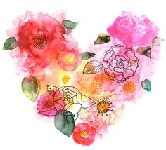 Margaret Berg Art: Roses Heart