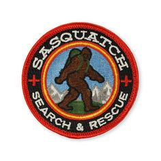 Sasquatch Search and Rescue Morale Patch