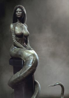 Mermaid worm :) Picture  (3d, mermaid, portrait, fantasy)