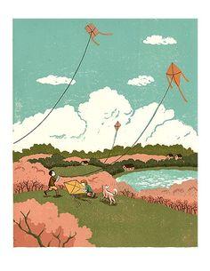 One Spring Day ~ Taeeun Yoo illustration