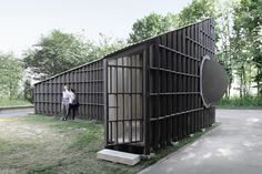 Image 1 of 9 from gallery of Best Room Pavilion / EAST + Aff Architekten. Photograph by Sebastian F. Lausanne, Wood Architecture, Contemporary Architecture, House Of The Rising Sun, Building Costs, Building Exterior, Cool Rooms, Planer, Outdoor Structures