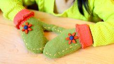 Girl's Knitted Full Finger Gloves Kids Flower Gloves, View Kids Flower Gloves…
