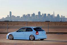 Honda Civic EK via Scott Dukes Photo for Import Tuner magazine