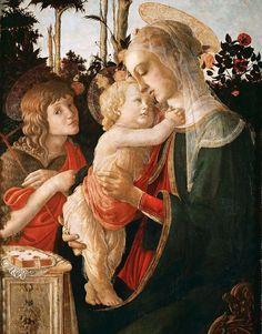 BOTICELLI. Virgen con el Niño y San Juan Bautista. 1495.