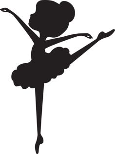 Silhouette Ballerina 1 - Minus                                                                                                                                                      Más Ballerina Party Favors, Ballerina Cookies, Ballerina Birthday, Ballerina Shoes, Ballet Silhouette, Silhouette Cameo, Crafts For Kids, Arts And Crafts, Norma Cano