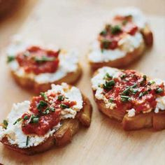 Goat Cheese Crostini with Pickled Peppers @delish
