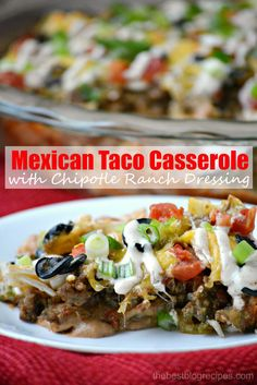 Mexican Taco Casserole | 21 Hot And Delicious Casserole Recipes To Try In 2015