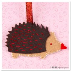 Hedgehog Love: DIY Valentine's Day Ornament Craft Project