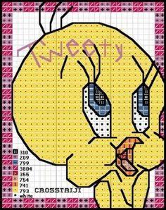 cross stitch children graphics - Tweety