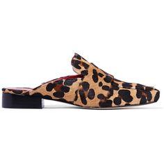 b45736018 DORATEYMUR Filiskiye leopard-print calf hair slippers ( 375) ❤ liked on  Polyvore featuring · Backless ShoesGirl ...