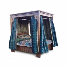 Four Poster Bed Drapes fairy tale four poster bed with drapery | bohemian delight