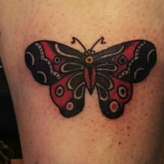Sailor jerry butterfly by john #funtattoo #sailorjerry #tattoo #relatively #painless #relativelypainless