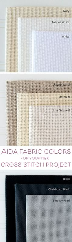 Save this guide to help you pick the perfect color of Aida for your next cross stitch project #crossstitch #xstitch #aida