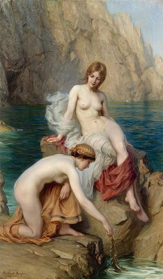"Herbert James Draper, ""Summer seas"" by sofi01, via Flickr"