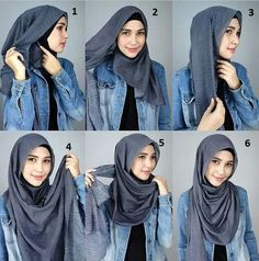 Hijab tutorial from world Hijab day Facebook page