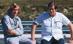 James Hunt with Lord Alexander Hesketh founder of Hesketh Racing